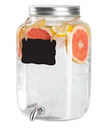 glass 2gallon beverage dispenser - 2