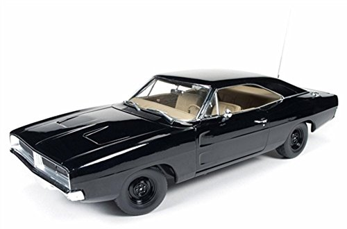 1969 Dodge Charger Black Happy Birthday General Lee 1/18 by Autoworld - General 1969 Dodge Charger Lee