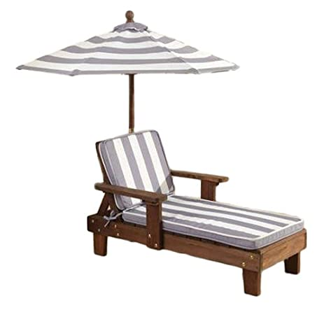 KidKraft Chaise Lounger Gray U0026 White Outdoor Furniture