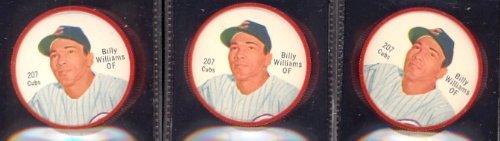 1962 salada tea coins (Baseball) Card# 207 billy williams of the Chicago Cubs NrMt Condition