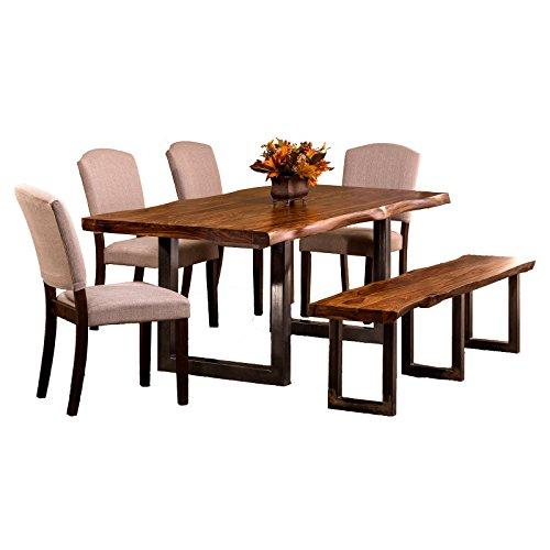 Hillsdale Furniture 6 Pc Rectangular Dining Set In Gray Beachfront Decor