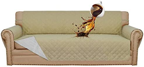 Easy-Going 100% Waterproof Sofa Slipcover Sofa Cover Furniture Protector Couch Cover Pets Covers Whole Fabric No Stitching Slip Resistant Non-Slip ...