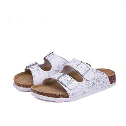 YaMiFan Buckle Cork Women Flat Strap Sandals Slide Adjustable 16 Womens for Casual ZgO1Zar