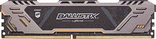 Ballistix Sport at 16GB Kit (8GBx2) DDR4 3000 MT/s (PC4-24000) SR x8 DIMM 288-Pin Gaming Memory - BLS2K8G4D30CESTK