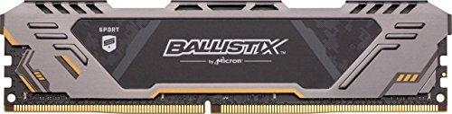 Ballistix BLS8G4D30CESTK Sport AT 8GB Single DDR4 3000 MT/s (PC4-24000) SR x8 DIMM 288-Pin Gaming Memory Negro/Amarillo, 3000...