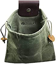 Outdoor Foraging Picking Bag - Canvas Fruit Harvest Pouch for Jungle Camping Hiking Hunting, Foldable