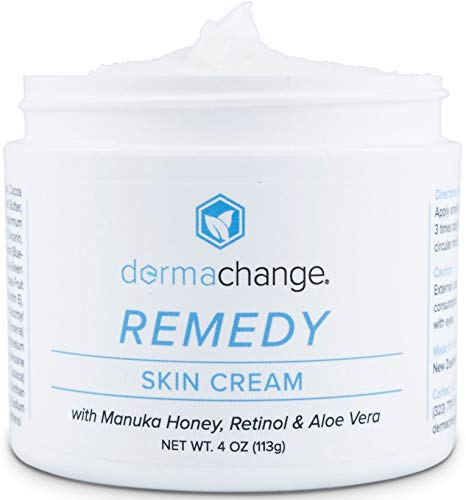 Tightening and Moisturizing Skin Cream - With Retinol, Manuka Honey & Aloe Vera - Great for Redness, Skin Rashes, Eczema & Wrinkles - Anti Aging - Organic Ingredients - (4oz) - Made in USA (Best Remedy For Skin Rash)