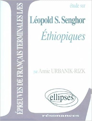 Livres gratuits en ligne Senghor : Ethiopiques pdf