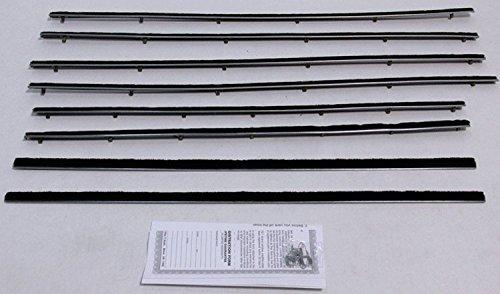 Repops Automotive Reproductions Window Sweeps Felt Kit For 1960-1963 Ford Falcon Tudor 2 Door Sedan OEM