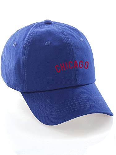 Daxton USA Cities Baseball Dad Hat Cap Cotton Unstructure Low Profile Strapback - Chicago Blue -