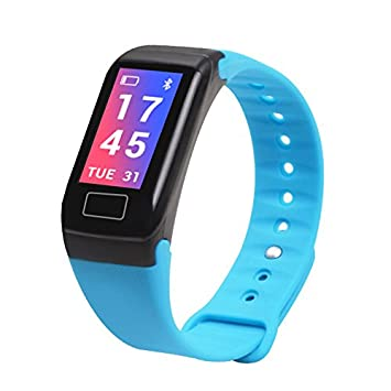 Reloj inteligente con monitor de ritmo cardíaco y monitor de presión arterial, podómetro, podómetro