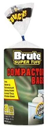 Brute Super Tuff 20 Gallon Size Compactor Kitchen Bags