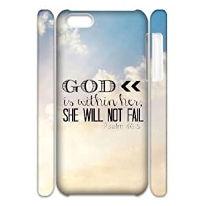 Cool Painting Bible Verse Personalized 3D Cover Case for Iphone 5C,customized phone case case621172 by icecream design