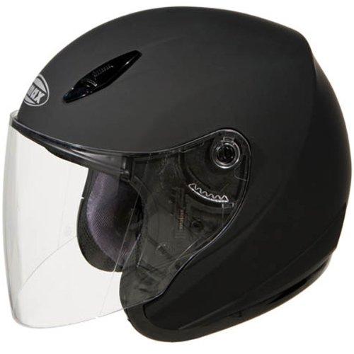 GMax GM17 Flat Black Open Face Helmet - Medium