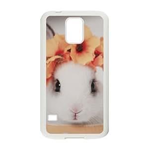 Cute rabbit CUSTOM Phone Case for SamSung Galaxy S5 I9600 LMc-34884 at