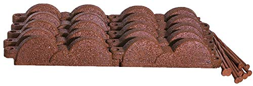 Valley View Rubber Decorative Landscape Edging Kit with Nails, No Digging Required (Cedar -
