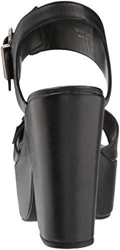 Femmes Femmes Sandales Black Compensées Sandales Compensées Black Leather wt7dr8qw