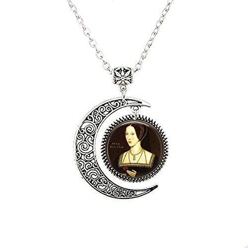 (Anne Boleyn Portrait Pendant Necklace - Henry VIII - Wives of Henry VIII - Tudor Jewelry - Anne Boleyn Picture Necklace)