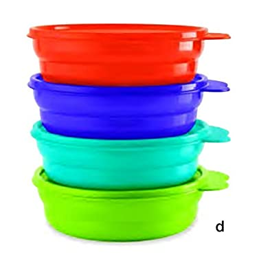 Tupperware Microwave Cereal Bowls in Cool Aqua/Grape Fizz/Hot Pepper/Lime