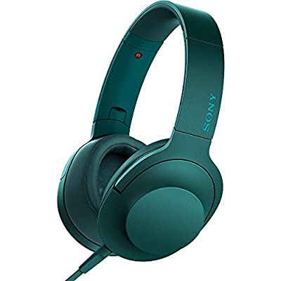 Sony MDR100AAP h.Ear on Premium Hi-Res On-Ear Stereo Headphones - Viridian Blue (MDR100AAP/L) with HardBody Headphone Case, A3 Headphone Amp, 2600mAh Keychain Power Bank, Splitter & 32GB Flash Drive