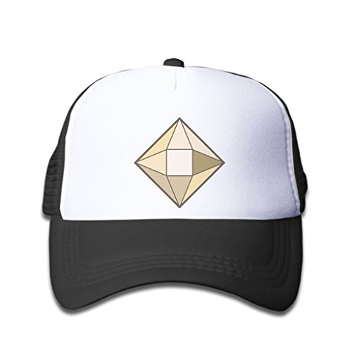 Stylewe Baseball Caps Yellow Square Diamond Black White Hat