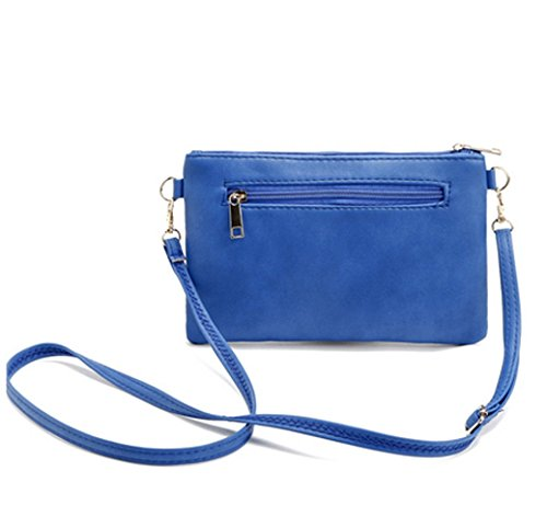 Wallet Women Travel Brown Handbag Leather Crossbody Bag YaJaMa Small Shoulder Rnawq88S