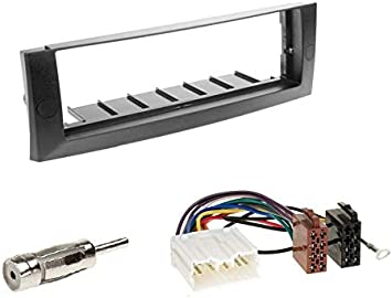 1 Din Radio Einbauset Blende Radioanschlusskabel Antennenadapter Für Mitsubishi Colt Czc Z3b 2006 2009 Auto