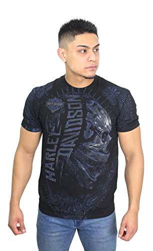 Harley-Davidson 5L33-HF8N Mens Dark & Dominating Skull Black Short Sleeve (X-Large)