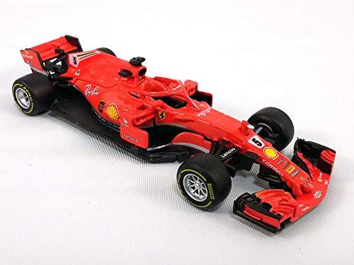 (5 Inch Ferrari SF71H Formula One (F1, F-1) 2018 S. Vettel #5-1/43 Scale Diecast Model )