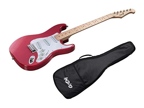 Monoprice Indio Cali Classic Electric Guitar - Wine Red, With Gig Bag (Best Red Wine In India)