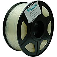 VSHEN 3D Printer Filament 1.75 PLA Clear Dimensional Accuracy +/- 0.03 mm Translucent 3D Printer