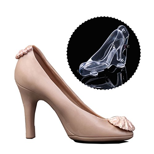 High Heel Shoes Chocolate Candy Mould Bundle 3D Molding Fondant Cake Molds Big Size (3d Chocolate Candy Mold)
