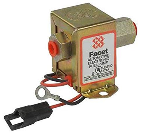 Rareelectrical NEW 12V FACET SOLID STATE FUEL PUMP COMPATIBLE WITH JOHN DEERE ALL CARBURETED ENGINES AH107362