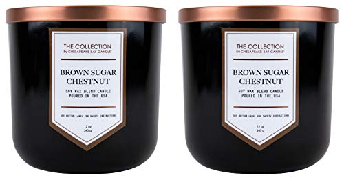 Chesapeake Bay Candle The Collection Two-Wick Scented Candle, Brown Sugar Chestnut, 2 Count Brown Sugar Soy Candle
