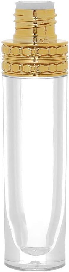 N\C 5 piezas de 8 ml Abs dorado corona tapa brillo labial tubo DIY vacío lápiz labial botellas de plástico recargables contenedor cosméticos aceite labial tubo varita tubo