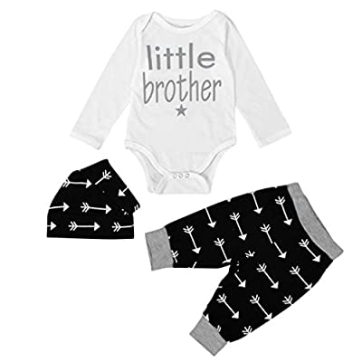 Newborn Boy Clothes,Laimeng Newborn Infant Clothes Baby Boy Tops Romper+ Leggings Pants Hat Outfits Set by Laimeng that we recomend individually.