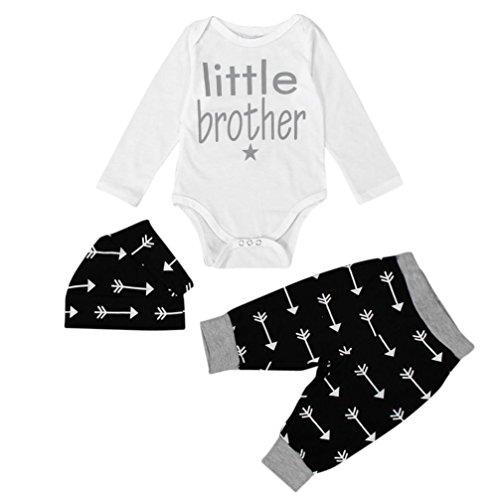 Newborn Boy Clothes,Laimeng Newborn Infant Clothes Baby Boy Tops Romper+ Leggings Pants Hat Outfits Set (70, (Slash Outfits)