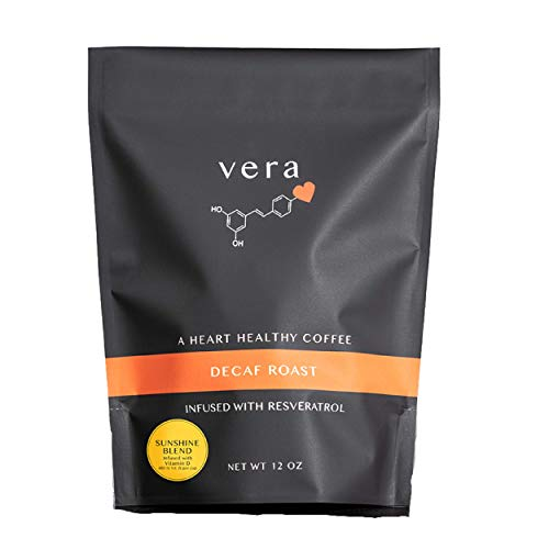Sunshine Blend Coffee - Coffee Infused with Heart Healthy Antioxidants and Vitamin D - Decaf Ground Coffee - 12 oz