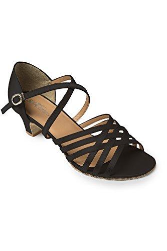 de Latines Femme Société Chaussures Bl180 Black Black de Noir Danses So Danca et qXpw66