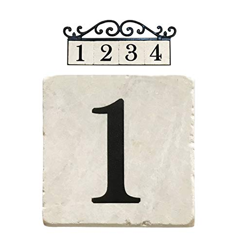 - NACH PN-8101 1 Marble Tile House Number, White