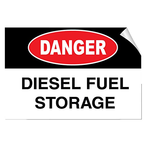 (Danger Diesel Fuel Storage Hazard LABEL DECAL STICKER Sticks to Any Surface)