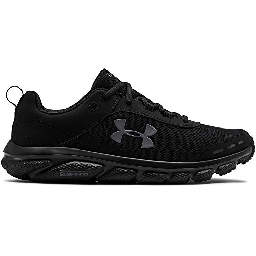 UNDER ARMOUR Men's Charged Assert 8 Running Shoe (002)/Black, 10.5