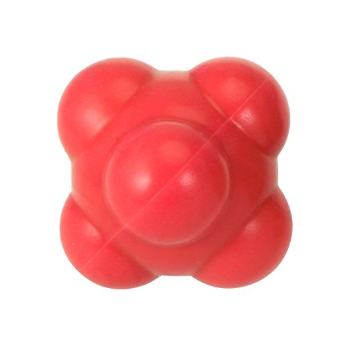SUPVOX Baseball Agility Reaction Ball Develop Exceptional Hand-Eye Coordination Traning Accessories - Medium 58mm (red)