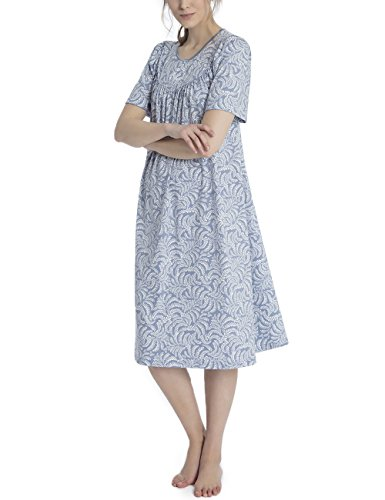 Blu Avalon Calida Blue Cotton 462 Monopezzo Donna Soft q1IOZ
