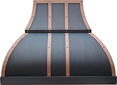 Range Hood with Vent 660CFM Copper Best H1 302130S Copper Vent Hood Oil Rubbed Bronze Finish 30 inch Wall