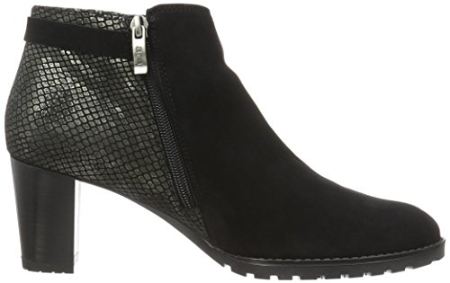 Black women's Ara Leather bootee bootee women's Ara Black Leather Ara wqRAwC