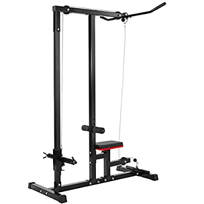 XtremepowerUS Lat Machine Low Row Cable Pull Down Fitness Machine from XtremepowerUS