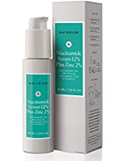 Niacinamide Serum 12% Plus Zinc 2% - 1oz, Vitamin B3, Minimize Pores, Balance Oil Production, Wrinkles, Fine Lines, Facial Serum with Niacinamide, Hyaluronic Acid & Vitamin E