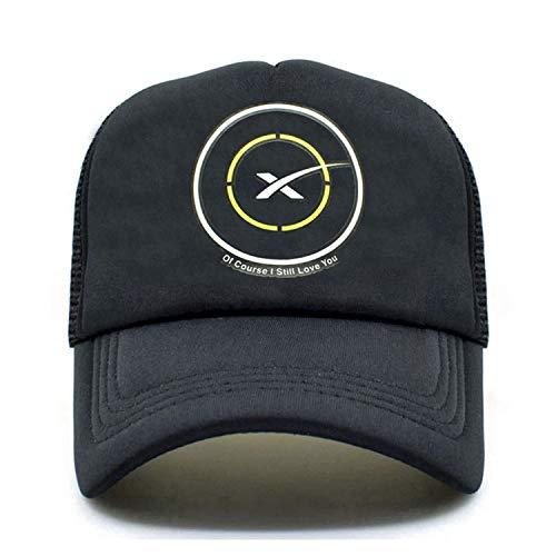 - Hot Spacex Trucker Caps UFO Outer Space X Rocket Musk Fans Black Baseball Mesh Net Cool Trucker Caps Hat