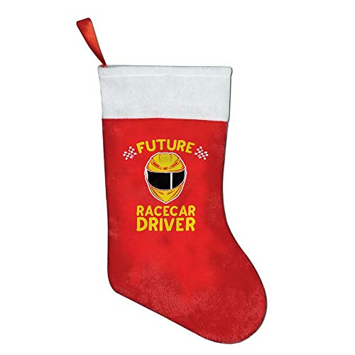 NYSOUVENIRS Future Racecar Driver Christmas Stocking Festival Party Ornaments Christmas Stockings Decorations